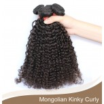 3pcs/lot Mongolian Kinky Curly Virgin Hair Bundles GD001