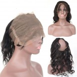 Malaysian Body Wave 360 Lace Band Closure Virgin Hair LC0089