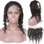 Malaysian Loose Wave 360 Lace Band Closure Virgin Hair LC0090