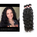 3pcs/lot Natural Curly Virgin Peruvian Hair Bundles PD003