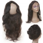 Peruvian Hair 360 Lace Band Frontal Closure Body Wave LC0086