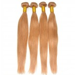 3pcs/lot Brazilian Straight Virgin Hair Bundles Color 27 Honey Blonde BD0053