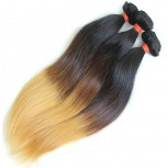Straight Brazilian Remy Hair Extensions Ombre Hair 1B/4/27 BR0025
