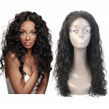 Water Wave 100% Human Hair Glueless Full Lace Wigs FLW0041