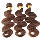 Medium Brown(4#) Brazilian Virgin Remy Hair Weave Body Wave BR005