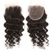 Brazilian Deep Wave Virgin Hair  4''*4'' Lace Closure LC006