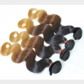 2pcs/lot Body Wave Brazilian Remy Hair Ombre Hair 1B/4/27# BR0022