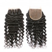 Best Deep Wave Brazilian Virgin Remy Hair Lace Closure 4*4 inch LC0013