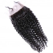 Brazilian Kinky Curly Lace Closure Free Middle 3 Part Virgin Hair Closure LC004