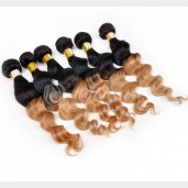 Brazilian Ombre Loose Wave Remy Hair Two Tone Color 1B/27# BR0030
