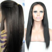 Light Yaki Brazilian Virgin Hair Lace Front Wigs LFW0010