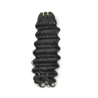 #1 Jet Black Peruvian Hair Deep Wave PV001