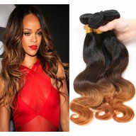 3pcs/lot Brazilian Body Wave Ombre Remy Hair Extensions Three Tone 1B/4/30# BR0062