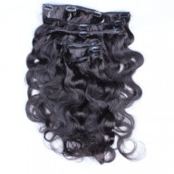 120G Brazilian Body Wave Clip in Human Hair Extensions CR0020