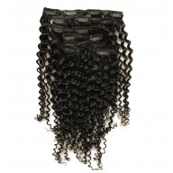 120G Brazilian Curly Clip in Human Hair Extensions CR0022