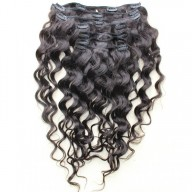 120G Brazilian Loose Wave Clip in Human Hair Extensions CR0027