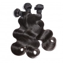 3pcs/lot Virgin Brazilian Hair Weave Bundles Body Wave Mixed Length BD001