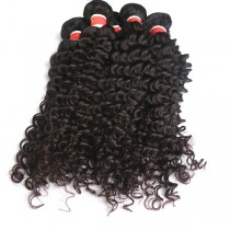 3pcs/lot Deep Curly Virgin Peruvian Hair Weave Bundles PD008