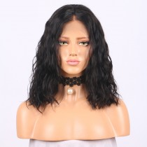 Bob Natural Wave 13x6 Deep Part Lace Front Human Hair Wigs LFW0109