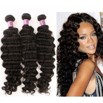 3pcs/lot Deep Wave Virgin Malaysian Hair Weave Bundles MD004