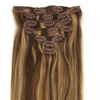 #4/27 Clip In Hair Extensions Straight CR006