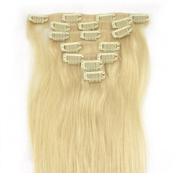#60 Clip In Hair Extensions Straight CR005