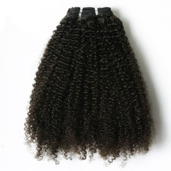 Afro Kinky Curly Double Drawn Brazilian Virgin Hair Weave BRV007