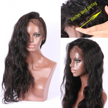 New 13x6 Deep Part Lace Front Human Hair Wigs Body Wave LFW0087