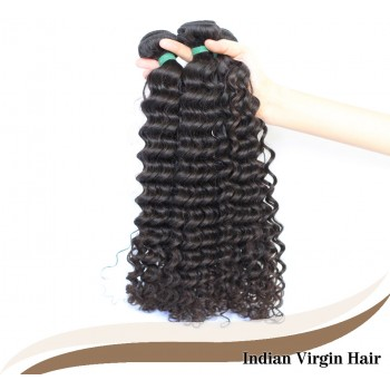 3pcs/lot Curly Indian Virgin Hair Weave Bundles ID005