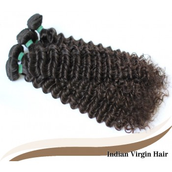 Indian Curly Virgin Hair 100% Human Hair Weave IV007