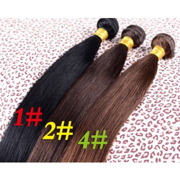 3pcs/lot Brazilian Straight Virgin Hair Bundles Color 1#/1B#/2#/4# BD0050