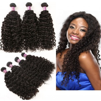 3pcs/lot Curly Virgin Malaysian Hair Weave 100% Human Hair Bundles MD006
