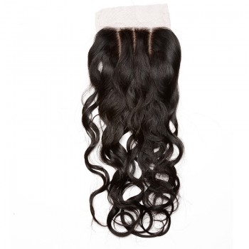 Water Wave Silk Base Closure Brazilian Virgin Hair 4''*4''  LC0029